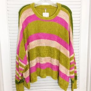 FREE PEOPLE All About You Pullover Striped Sweater